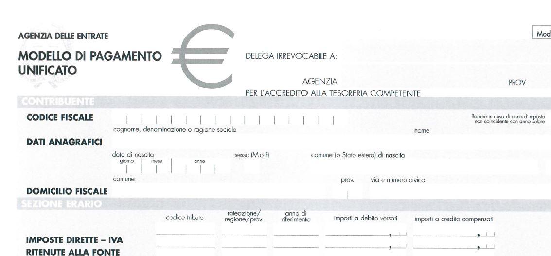 Pagamento modello f24 studio arrighi e partnersstudio for Pagamento f24